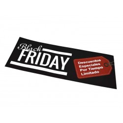 Cartaz Black Friday. 100x35, tridecor