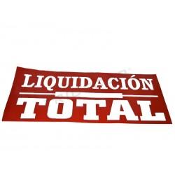 014110 Cartel liquidación total 160x60 cm