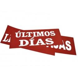"""CARTEL REBAJAS """"ÚLTIMOS DÍAS"""". 100X35 CM"""