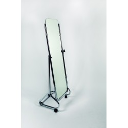 Espejo cromado con ruedas de 157x45x45cm