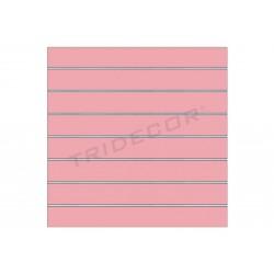 Panell de lames rosa 120x100 cm 7.5 guies, tridecor