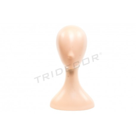HEAD OF PLASTIC FLESH-COLORED 40X22X18CM