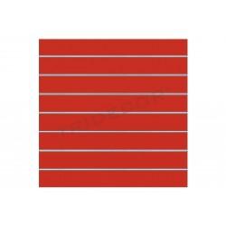 Panel de lámina de cor vermella, 7 guías. 120x100 cm, tridecor