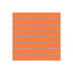 Painel de lamas laranja, 7 guias. 120x100 cm, tridecor