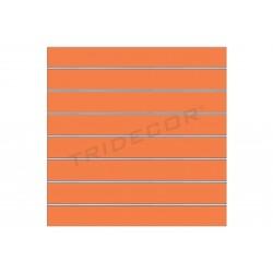 Panel de lamas naranja, 7 guias. 120x100 cm, tridecor