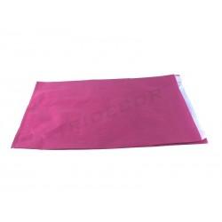 010415 Sobre de papel celulosa fucsia 26+4.5x35cm 100 unidades Tridecor