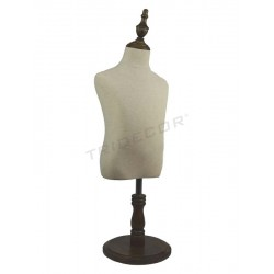 040378 Busto infantil pie de madera 4-6 años. Tridecor