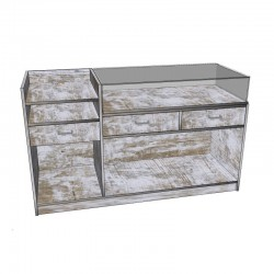 Counter model 1. Various colors and measures, tridecor