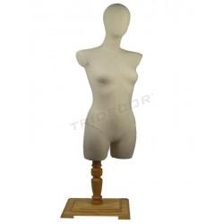 040879-2 Busto mujer madera clarita. Tridecor