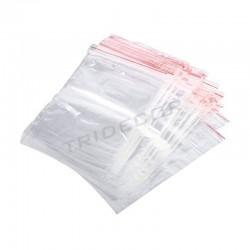 Bolsa plástico transparente, cierre zip. 17x25 cm., tridecor