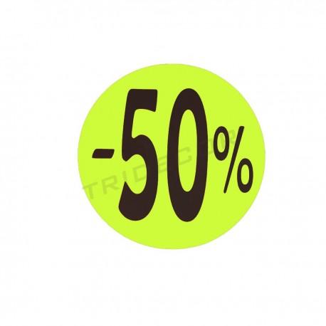 Cartell de vendes ronda. 30x30 cm en Diferents percentatges, tridecor