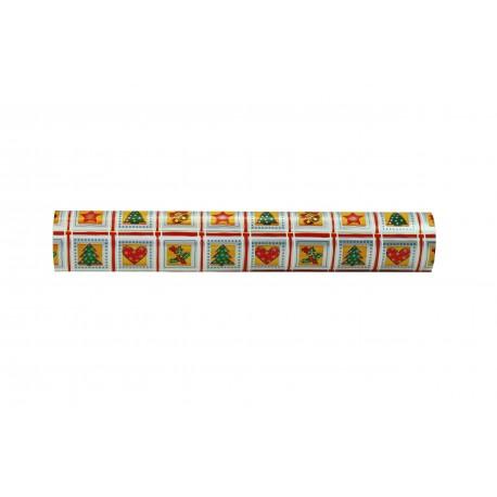Regal de paper de plata estampes de nadal vermell verd or 62cm