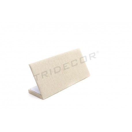 EXHIBITOR WRISTBANDS IN LINEN BEIGE 25X11.5X8 CM