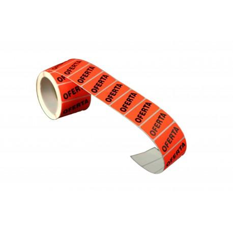014412 Pegatina oferta 50x30 mm. Tridecor