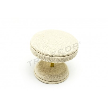BEDSIDE TABLE FOR JEWELRY LINEN BEIGE 8X8X7 CM
