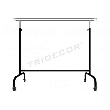 Garment rack adjustable extensible arms black, tridecor