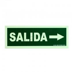 Cartaz saída à direita de 30x10.5cm cor verde
