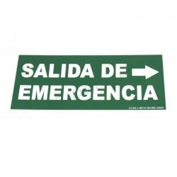 Cartel saída de emerxencia para a dereita 30x15cm verde