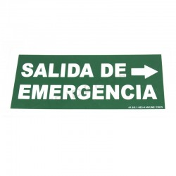 Poster emergency exit to the right 30x15cm green