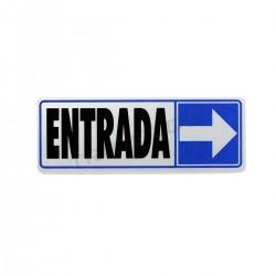 Cartel de entrada para o dereito de 17.5x6cm cor azul
