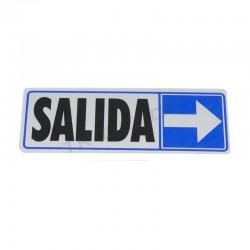 Cartel de saída sobre o dereito de 17.5x6cm cor azul