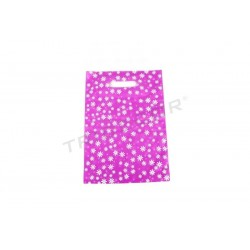 BAG DAISIES BACKGROUND FUCHSIA 25X35CM 100U