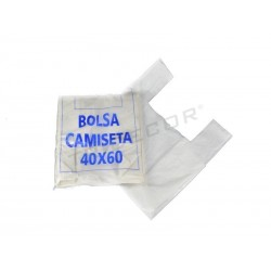 BOLSA DE T-SHIRT BRANCA 60X40
