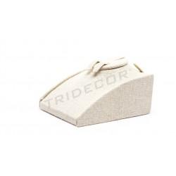 Expositor joyería para conjunto. Lino beige 12x8.5x5cm, tridecor