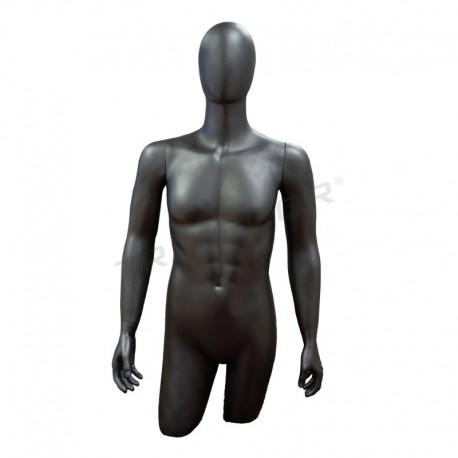 Busto de hombre completo gris mate, tridecor