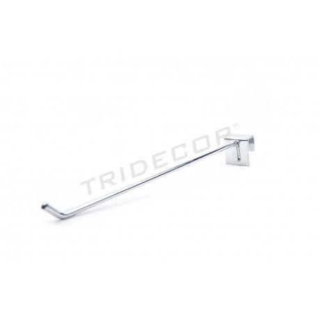 Gancho colgador para barra rectangular 30 cm 6 mm, tridecor