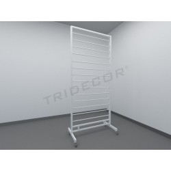 038292 Expositor para bufandas blanco. Tridecor