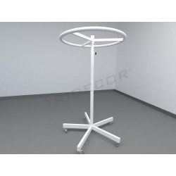 038307 Perchero circular blanco. Tridecor