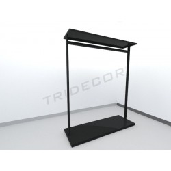 0358639 Perchero con estante perforado negro mate. Tridecor