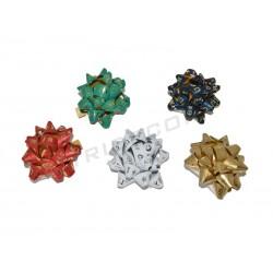 014263 Estrellas adhesivas colores metálicos 5x5x2 cm. Tridecor