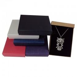 Caja para joyería, varios colores. 16.5x12.5x3 cm. 12 uds. tridecor