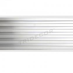 Panel de lamas aluminio gris estándar 16x300 cm, tridecor