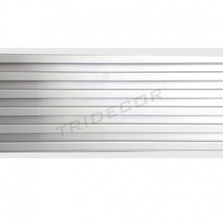045074 Lama de aluminio gris, estándar 16x300 cm. Tridecor