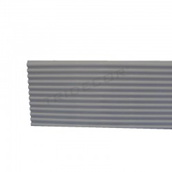 Panel de lámina de aluminio fenda estreita. 16x300 cm Tridecor
