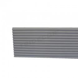 Pannello di pale in alluminio scanalato stretta. 16x300 cm Tridecor