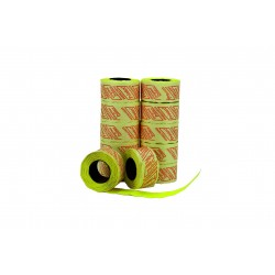 YELLOW LABEL, 2 LINES,26X16MM 8 ROLLS