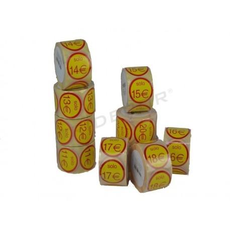 6014019 Etiqueta adhesiva precios redondos. Tridecor