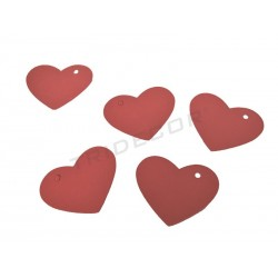 0141024. Etiquetas colgantes corazón. Varios colores. GrandesTridecor