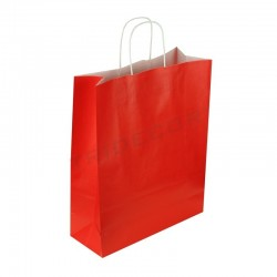 Bolsa de papel color rojo, 24x10x32 cm. 25 uds., tridecor