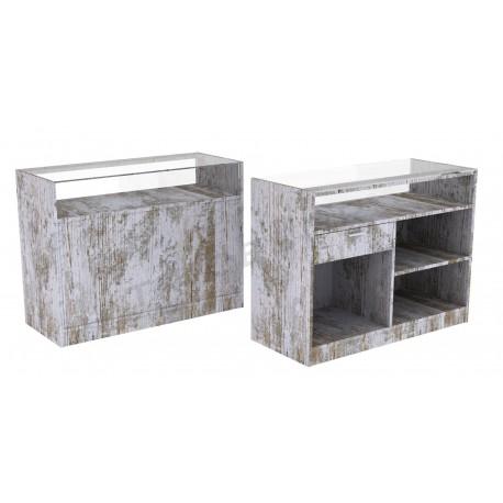 Varias medidas 150 cm Mostrador comercial en color gris