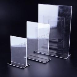Portacarteles acrílico tamaño A5, tridecor