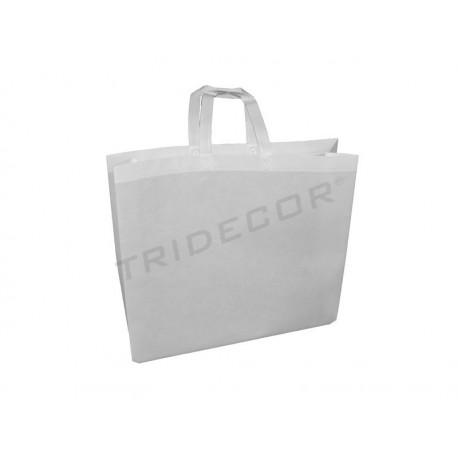 Teixit bossa amb nansa plana 49x50cm color marró. Paquet de 25 unitats