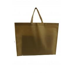 Bolsa de tela con asa plana color camel 25 unidades