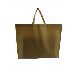 FABRIC BAGS WITH HANDLE FLAT CAMEL COLOR 25UNIDADES
