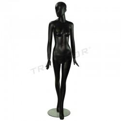 模特的一个女人的玻璃纤维的亚光的黑色