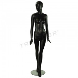 MANNEQUIN OF A WOMAN OF FIBER GLASS MATTE BLACK